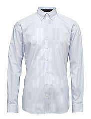 Stripedshirt,L/S - LT BLUE