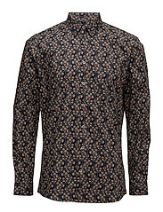 All over printed shirt L/S - NAVY