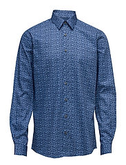 All over printed shirt L/S - BLUE