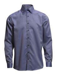 Jacquard shirt L/S - BLUE