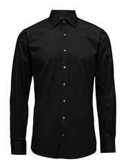 Plain fine twill shirt,WF - BLACK