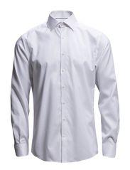 Plain fine twill shirt wf - WHITE