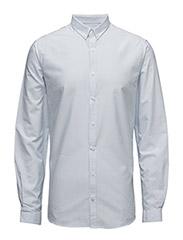 Striped oxford shirt L/S - LT BLUE