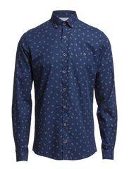 Paisley printet shirt - NAVY