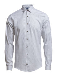 Shirt w/printed dots - LT GREY MEL