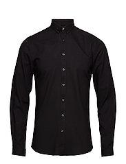 OxfordshirtL/S - BLACK