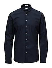 OxfordshirtL/S - NAVY
