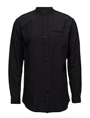 OversizedshirtL/S - BLACK