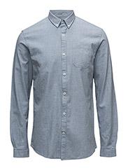 Shirtw.melangeeffectL/S - LT BLUE