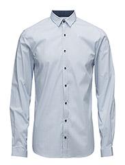 Stripedstretchshirt,L/S - LT BLUE