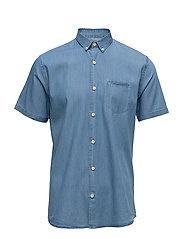 Denim shirt S/S - MED BLUE