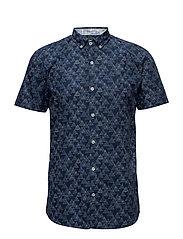 AlloverprintedshirtS/S - DK BLUE
