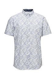 AlloverprintedshirtS/S - WHITE