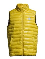 Quilted nylon vest - YELLOW