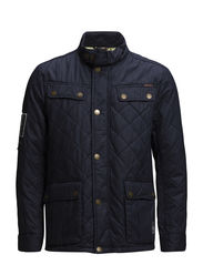Quiltet motorcycle jacket - DK BLUE