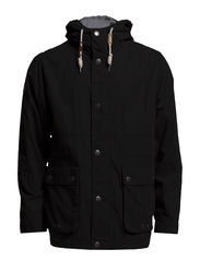 Jacket with hood - BLACK