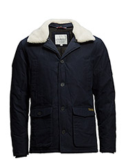 Jacket with detachable collar - NAVY