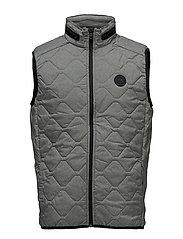 Quilted waist coat - GREY MEL
