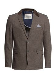 Herringbone blazer - BROWN