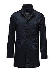 Coat with zippers - NAVY