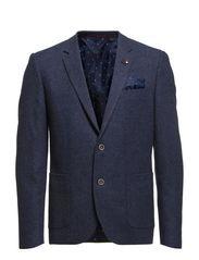 Twill weave blazer - DK BLUE