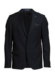 Blazer with cord piping - NAVY