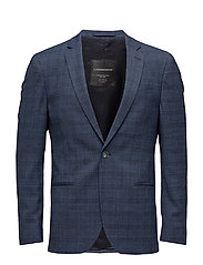 Checkedstretchblazer - BLUE MIX