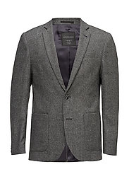 Wool blend blazer - GREY MIX