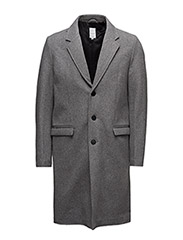 Oversizedwoolcoat - LT GREY MIX