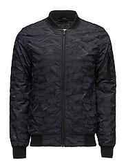 Short bomber jacket - BLUE