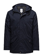 Jacket with hood - DARK NAVY