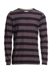 Striped l/s tee - BLACK