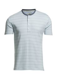 Classic striped granddad S/S - LT BLUE/WHIT