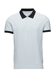 Contrast coloured polo pique - NEW BLUE NAV