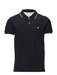 Contrast coloured polo pique - SEA NAVY WHI