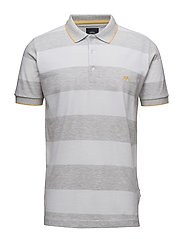 Stripedpolopique´S/S - LT GREY MEL