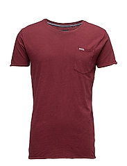 Washed tee - DK RED