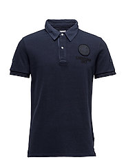 WashedpolopiquéS/S - DRESS BLUE