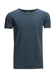 Mensstretchcrewnecktees/s - DENIM BLUE M