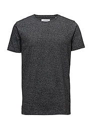 Mouliné tee S/S - BLACK MIX