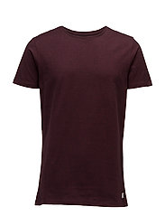 Mouliné tee S/S - WINE RED MIX