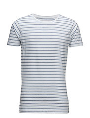 Striped tee S/S - BLUE