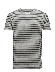 Striped tee S/S - GREY MIX
