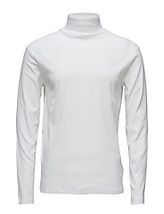 Low turtle neck tee L/S - WHITE