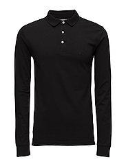 PoloshirtL/S - BLACK