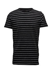 Stripedo-neckteeS/S - BLACK