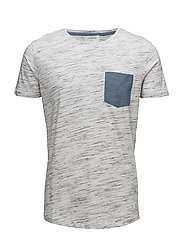 Space dyed tee O-neck - WHITE