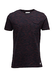 Space dyes tee - BORDEAUX