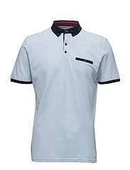 Polo shirt w.contrasts S/S - LT BLUE