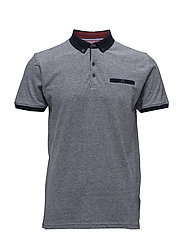 Polo shirt w.contrasts S/S - NAVY